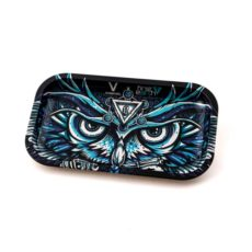 Metalowa Tacka Do Kręcenia Jointów - V-SYNDICATE ROLLING TRAY - 27x16 Sowa - OWL MEDIUM