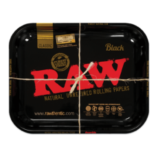Tacka RAW BLACK do suszu i kręcenia jointów rolling tray metalowa 33x27,5