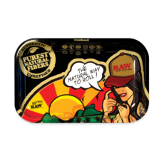 Tacka RAW Brazil do suszu i kręcenia jointów rolling tray metalowa