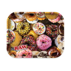 Tacka RAW DONUT do suszu i kręcenia jointów rolling tray metalowa 33x27,5