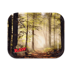 Tacka RAW FOREST SMOKEY do suszu i kręcenia jointów rolling tray metalowa 33x27,5
