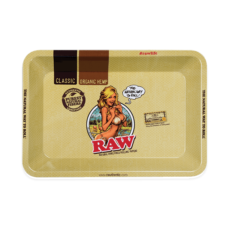 Tacka RAW GIRL MINI do suszu i kręcenia jointów rolling tray metalowa