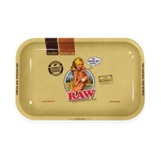 Tacka RAW GIRL do suszu i kręcenia jointów rolling tray metalowa