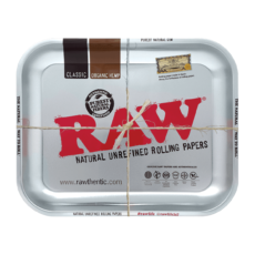 Tacka RAW Metalic do suszu i kręcenia jointów rolling tray metalowa 33x27,5